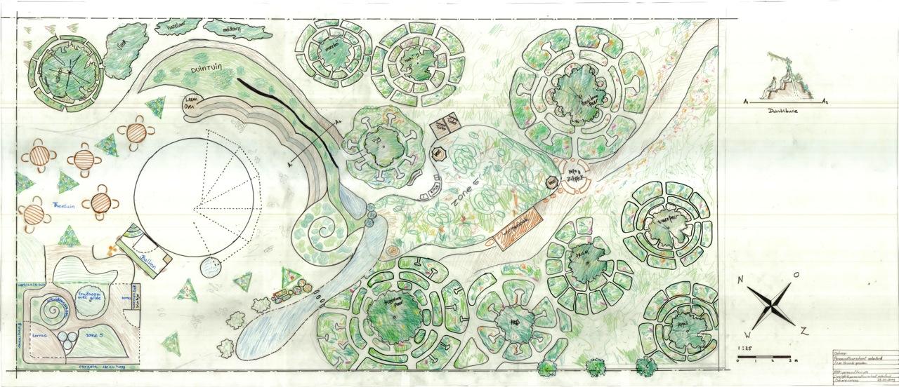 Onze tuinen eetbaar park for Ontwerp plattegrond