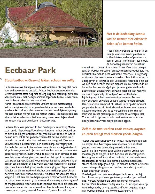 Eetbaar Park Wijkkrant Leyenburg